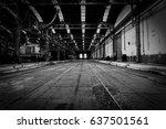 interior of a vehicle repair... | Shutterstock . vector #637501561