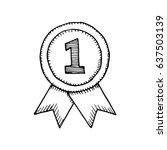 medal sketch vector   Shutterstock .eps vector #637503139