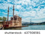 mosque and bosporus in istanbul ...   Shutterstock . vector #637508581