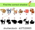 find correct shadow. kids... | Shutterstock .eps vector #637520005