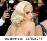 lady gaga at the 88th annual... | Shutterstock . vector #637526275