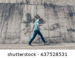 young stylish bearded man is... | Shutterstock . vector #637528531