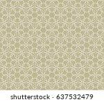 seamless geometric line pattern ... | Shutterstock .eps vector #637532479