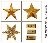 collection of gold stars and... | Shutterstock . vector #63753286