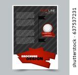 flyer template. abstract... | Shutterstock .eps vector #637537231