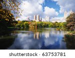 autumn at the lake in central... | Shutterstock . vector #63753781