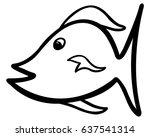 cartoon vector fish illustration | Shutterstock .eps vector #637541314