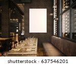 interior of the vintage... | Shutterstock . vector #637546201