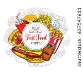 Fast Food Restaurant Menu Cove...