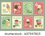 ice cream desserts price cards. ... | Shutterstock .eps vector #637547815