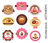 desserts vector icons for... | Shutterstock .eps vector #637548391