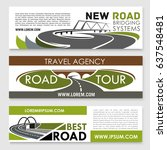 road travel and construction... | Shutterstock .eps vector #637548481