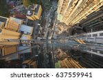 from the top 40 floors of tall... | Shutterstock . vector #637559941