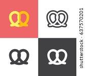 pretzel | Shutterstock .eps vector #637570201