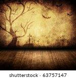 halloween retro room | Shutterstock . vector #63757147