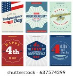 independence day 6 colored ... | Shutterstock .eps vector #637574299