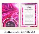 cover design with marbling.... | Shutterstock .eps vector #637589581