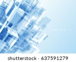 modern blue glass wall of... | Shutterstock .eps vector #637591279