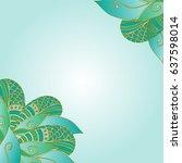 decorative element corners.... | Shutterstock .eps vector #637598014