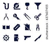 steel icons set. set of 16... | Shutterstock .eps vector #637607455