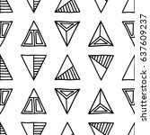 seamless  pattern. black and... | Shutterstock . vector #637609237