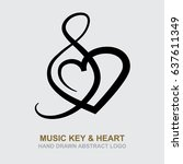 Music Key And Heart. Music...