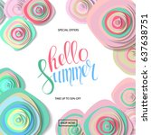 summer sale background with... | Shutterstock .eps vector #637638751