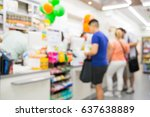 abstract blur people shopping... | Shutterstock . vector #637638889