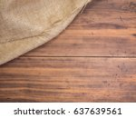 old rural wooden table boards...   Shutterstock . vector #637639561