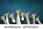 hands showing gestures | Shutterstock . vector #637641811