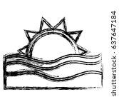 sea and sun icon | Shutterstock .eps vector #637647184