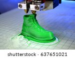 3d printer prints the form of... | Shutterstock . vector #637651021