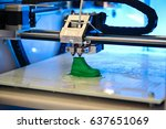 3d printer prints the form of... | Shutterstock . vector #637651069