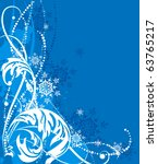 blue vector christmas... | Shutterstock .eps vector #63765217
