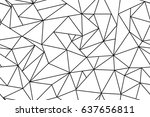 abstract polygonal black and... | Shutterstock .eps vector #637656811