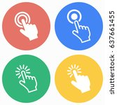 touch vector icons set.... | Shutterstock .eps vector #637661455