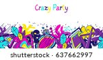 trendy colorful banner crazy... | Shutterstock .eps vector #637662997
