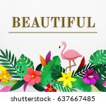 fresh and beautiful flower for... | Shutterstock . vector #637667485