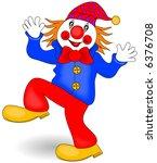happy clown vector. | Shutterstock .eps vector #6376708