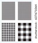 black gingham pattern background | Shutterstock .eps vector #637671064