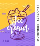 ice cream poster with cool... | Shutterstock .eps vector #637677457