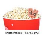 detail of popcorn in a bucket... | Shutterstock . vector #63768193