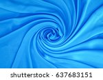 romantic blue fabric twisted... | Shutterstock . vector #637683151