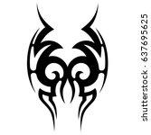 tattoo tribal vector design.... | Shutterstock .eps vector #637695625
