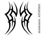 tribal tattoo art designs.... | Shutterstock .eps vector #637695691
