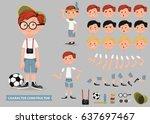 creation of cartoon character... | Shutterstock .eps vector #637697467