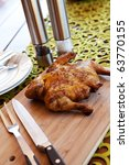 whole barbecue chicken with... | Shutterstock . vector #63770155