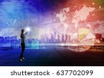 business technology abstract....   Shutterstock . vector #637702099