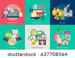 business and finance conceptual ... | Shutterstock .eps vector #637708564
