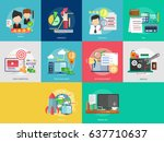 business and finance conceptual ... | Shutterstock .eps vector #637710637